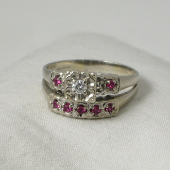 1940s Engagement Ring Set