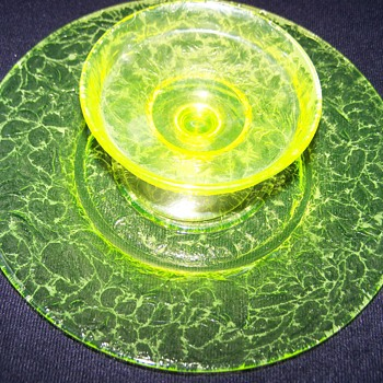 Vaseline Uranium Glass Set  - Glassware