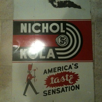 Nichol Kola Tin Sign - Signs