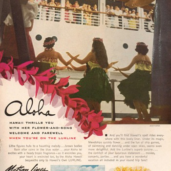 1952 - Matson Lurline Advertisement - Advertising