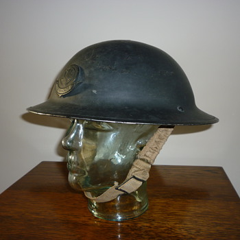 British WWII Civil Defence Factory Guard steel helmet.