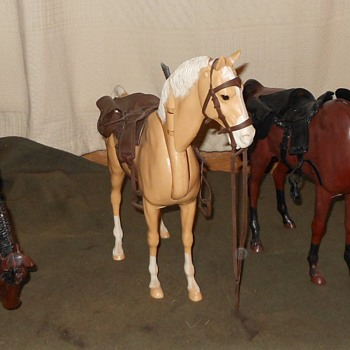 Marx Johnny West Buckskin Horse aka Nodder