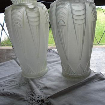 Two large Art Deco vases. French? Espaivet? - Art Glass