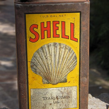 Shell One Gallon Transmission Oil Can - Petroliana