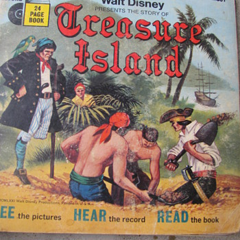 Walt Disney -- Treasure Island Book and Record - Records