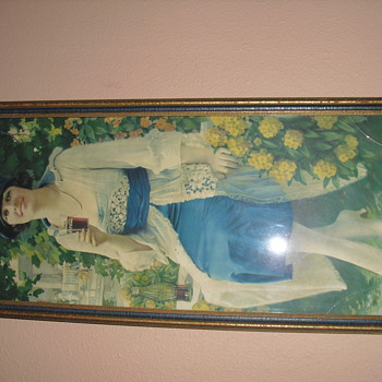1921 COCA COLA AUTUM GIRL