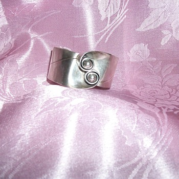Taxco Silver 950 Marked RM Cuff Bracelet