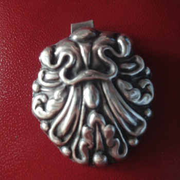 Victorian Sterling Silver pendant (was a part of a silver buckle)