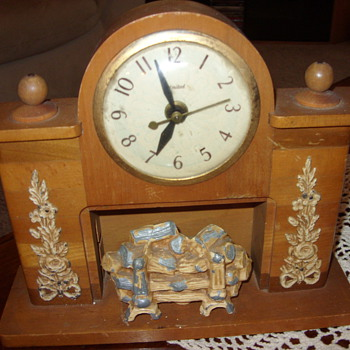 nice united fireplace clock - Clocks