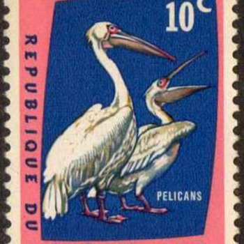 "1963 - Congo Dem. Rep. ""Birds"" Postage Stamps - Stamps"