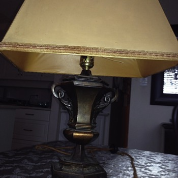 old bronze lamp