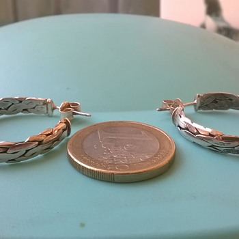 Sterling Hoop Earrings, Junk Basket Find 50 Cents