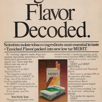1976 - Merit Cigarettes Advertisement