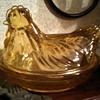 """Hazel Atlas rare Honey """"Nesting Hen"""""""