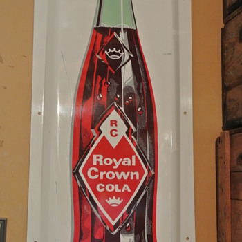 1930's Nehi RC Royal Crown Cola Convex Sign