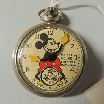 MICKEY MOUSE POCKET WATCH 1935