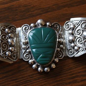 Large Vintage Mexico Bracelet - Fine Jewelry