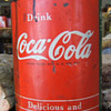 Coca Cola Tin Syrup Container