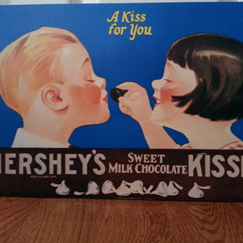 A kiss for you  HERSHEY'S SWEET MILK CHOCOLATE KISSES