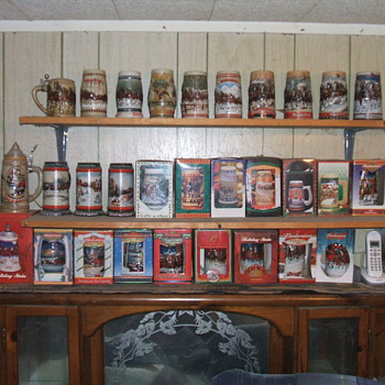 30 years of the Budweiser Holiday collector Steins - Breweriana