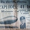 "Charlotte Observer 1937 Newspaper "" The Hindenburg Explodes"" May 1937"