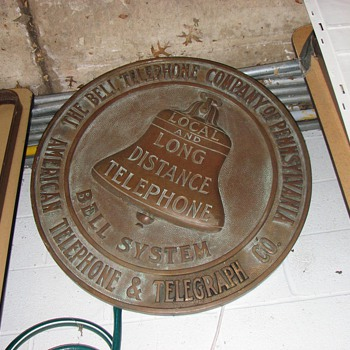 Super Rare PA L&L Bronze Building sign