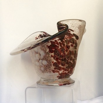 Erneste-Baptiste Léveillé Acid Etched Enamelled Oxblood Bowl Vase - Art Glass
