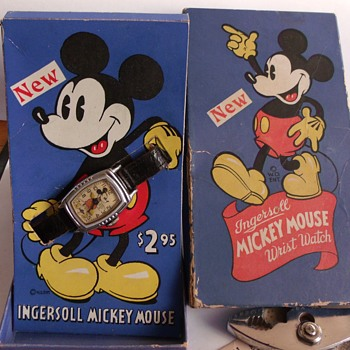"The ""New"" 1938-39 Mickey Mouse Watch"