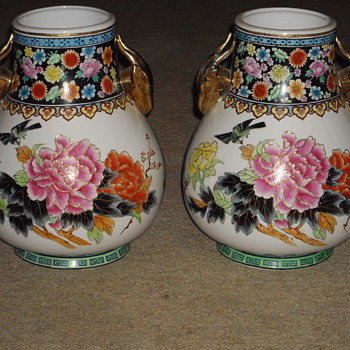 Famille Rose Vases  I think?