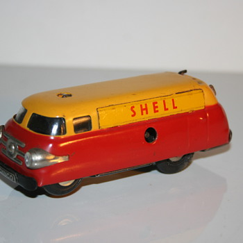 schuco wind up toy varianto 3046 shell - Model Cars