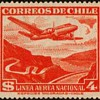 "1954 - Chile ""National Air Mail"" Postage Stamp"