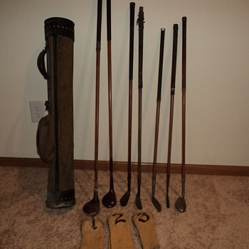 Hickory shaft golf clubs