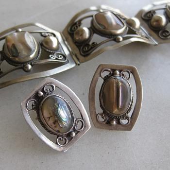 Abalone sterling Mexican earrings - Fine Jewelry