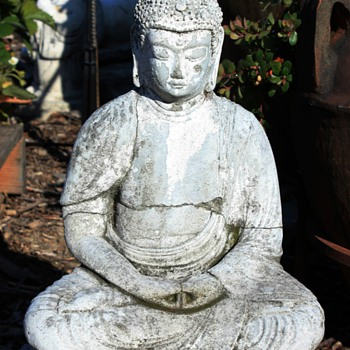 A few old buddha statues in my garden...