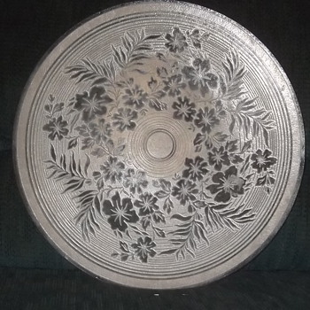 Plate/Tray Unknown Maker - Art Glass