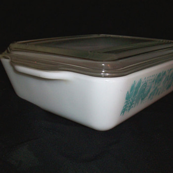 Vintage Pyrex Amish Blue Butterprint 1 1/2 QT Refrigerator Dish & Lid Cover - Kitchen