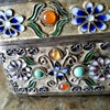 Chinese jade and filigree tea caddy/snuff box