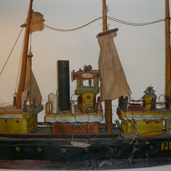Folk Art Ship Model Collection Jim Linderman