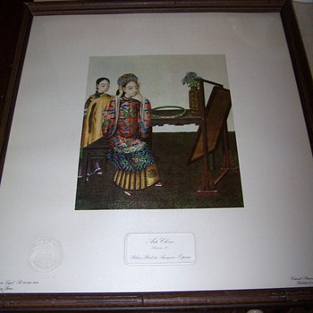 Arte Chino lithograph - Lamina IV