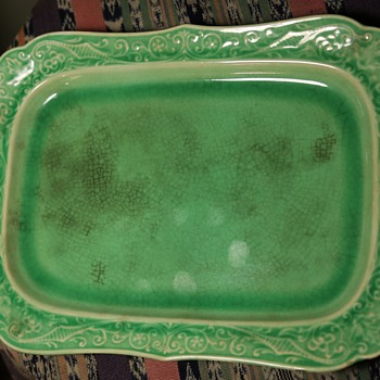 a favorite old dresser tray - Victorian Era