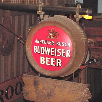 1934 1st post prohibition outdoor electric sign by Ant/Busch (Budwiser)