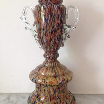 Welz pointillist découpage trophy vase - Art Glass