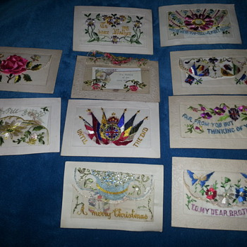 FRENCH WW1 SILK & EMBROIDERED POSTCARDS