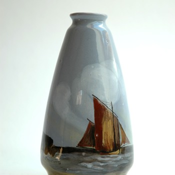 small pottery vase  by MONTIERES