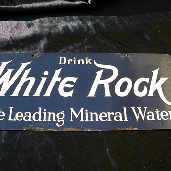 Really oldWhite Rock Sparkling Water sign - Advertising