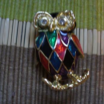 Stain Glass Owl - Costume Jewelry
