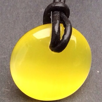 Yellow stone necklace  - Costume Jewelry