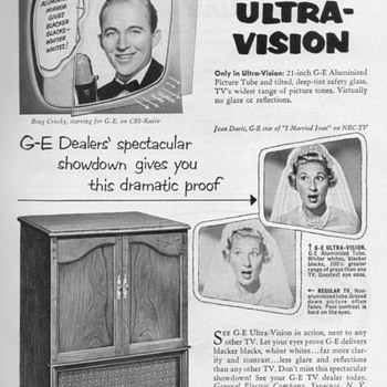 1953 - Gen. Elec. Model 21C206 Console TV Advertisement