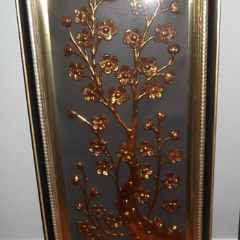 framed copper wall hangings