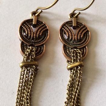 Old gold earrings
